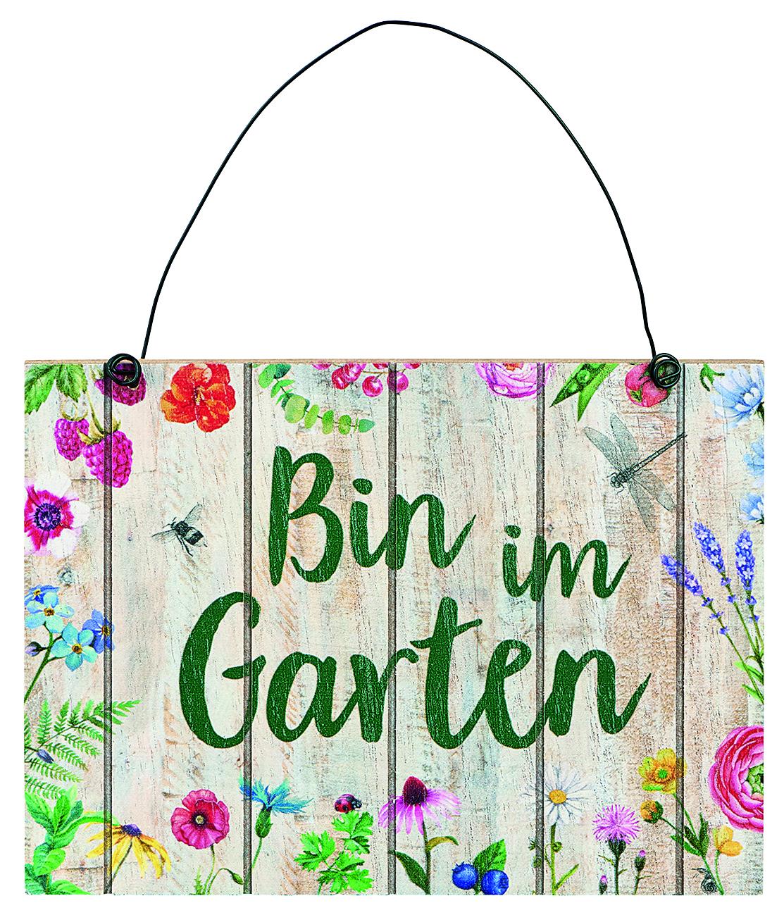 Bin Im Garten Schild Leserservice Einhard Shop